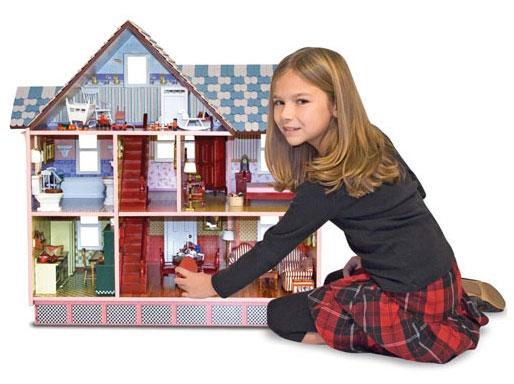 Викторианский домик и семья