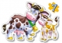 Пазл 4 в 1 Животные с малышами 4 эл, 5 эл, 6 эл, 7 эл. b04096 0