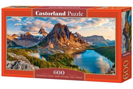 Пазл Закат в парке Ассинибойн Канада 600 эл панорамный