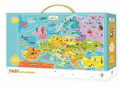 Пазл Карта Европы 100 эл укр.