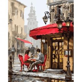 Картина по номерам Свидание в кафе 40 х 50 см КНО2144 Идейка