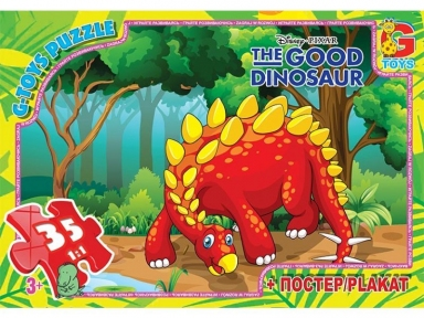 Пазл Хороший динозавр Красный 35 эл