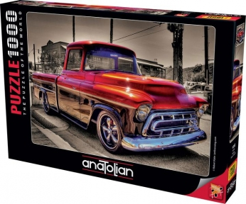 Пазл Дружище Ретро автомобиль красный 1000 эл Anatolian