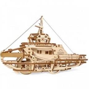 3D Пазлы Механическая модель Буксир 169 дет Ugears