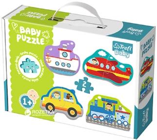 Пазлы для малышей 4 в 1 Транспорт серия Baby Classic