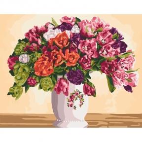 Картины по номерам Пышные тюльпаны КНО3075 Идейка