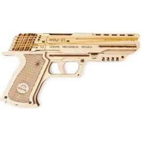 3D Пазлы Механическая модель Пистолет Вольф-01 63 дет Ugears