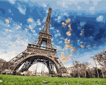 Картина по номерам Небо Парижа 40 х 50 см Brushme