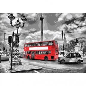 Картины по номерам Яркий автобус 35 х 50 см КНО2146 Идейка