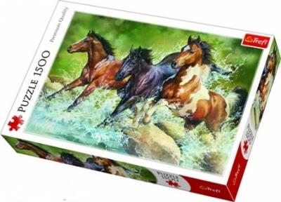 Пазл Три диких лошади 1500 эл