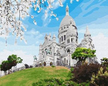 Картина по номерам Базилика на Монмарте 40 х 50 см Brushme