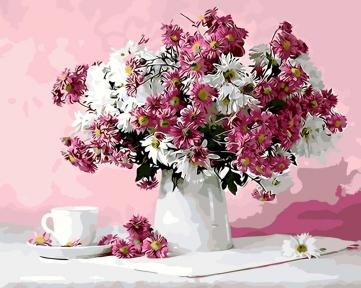 Картина по номерам Натюрморт в розовых тонах 50 х 40 см Brushme