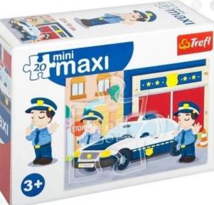 Пазл Полезные машины Полицейское авто 20 эл макси