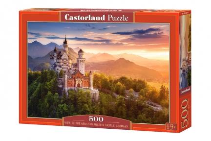 Пазл Вид на замок Ношванштайн 500 эл