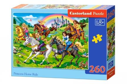 Пазл Прогулка принцесс на лошадях 260 эл
