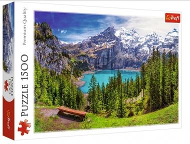 Пазл Озеро Эшинен Альпы Швейцария 1500 эл