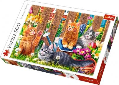 Пазл Кошки в саду 500 эл
