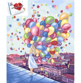 Картины по номерам Яркие краски города 40 х 50 см Danko