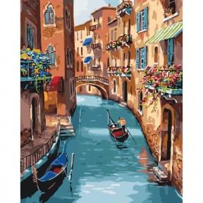 Картина по номерам Солнечная Венеция 40 х 50 см КНО2153 Идейка