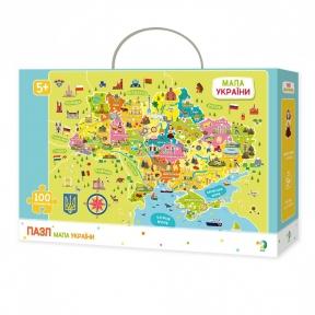 Пазл Карта Украины 100 эл укр.