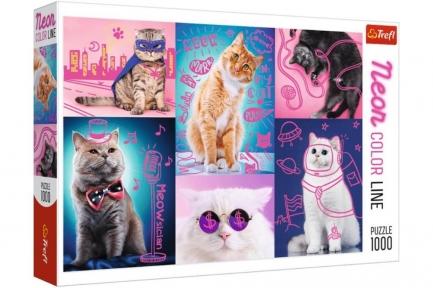 Пазл Супер коты серия Neon Color Line 1000 эл