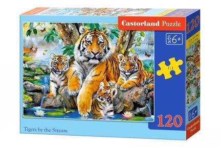 Пазл Семья тигров 120 эл