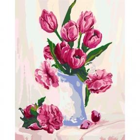 Картины по номерам Нежность в вазе 40 х 50 см КНО2912 Идейка