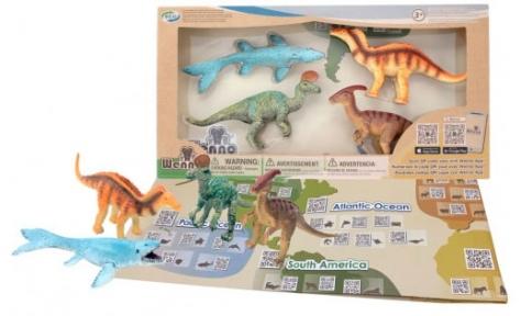 Обучающий игровой набор с QR-картой, Динозавры Мелового Периода, Wenno
