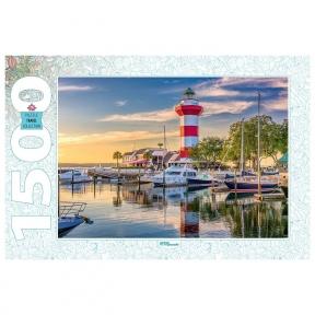 Пазл США Остров Хилтон-Хед Маяк Харбор 1500 эл Step Puzzle