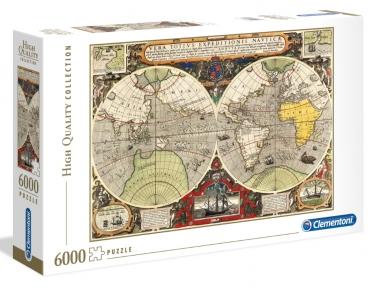 Пазл Античная морская карта 6000 эл Clementoni