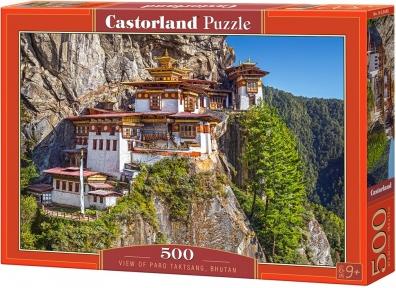 Пазл Вид на монастырь Такцанг, Бутан 500 эл