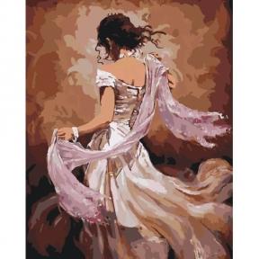 Картины по номерам Танцовщица фламенко 40 х 50 см КНО2682 Идейка