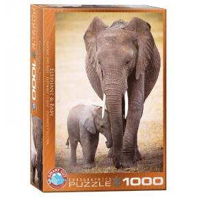 Пазл Eurographics Слониха и слоненок 1000 эл 6000-0270