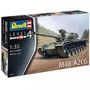 Сборная модель-копия Revell Танк М28 Паттон III уровень 4 масштаб 1:35