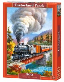 Пазл Поезд на мосту 500 эл