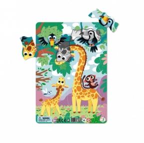 Пазлы в рамке Жирафы 21 эл от 3 лет
