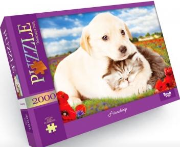 Пазл Дружба щенка и котенка 2000 эл Danko Toys