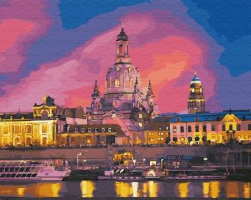 Картина по номерам Вечерний Дрезден 40 х 50 см Brushme