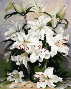 Картина по номерам Нежные лилии 40 х 50 см Brushme