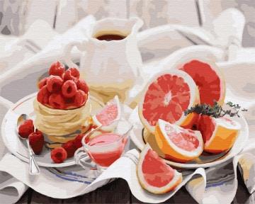 Картина по номерам Полезный завтрак 40 х 50 см Brushme