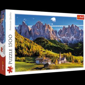 Пазл Долина Валь де Фунес Доломитовые Альпы Италия 1500 эл