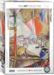 Пазл Eurographics Париж через окно Марк Шагал 1000 эл 6000-0853