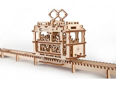 3D Пазлы Модель Трамвай 154 дет Ugears
