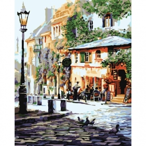 Картины по номерам Уютное кафе 40 х 50 см КНО2150 Идейка