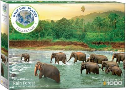 Пазл Eurographics Тропический лес Серия Спасем нашу планету 1000 эл 6000-5540