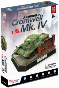 Трехмерная головоломка-конструктор танк British Cromwell Mk. IV, CubicFun