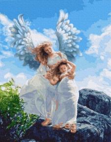 Картина по номерам Ангелы среди нас 40 х 50 см Brushme