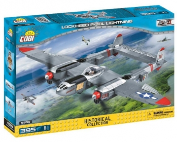 Конструктор COBI Вторая Мировая Война Самолет Локхид П-38 «Лайтнинг», 395 дет