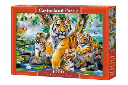 Пазл Тигры у пруда 1000 эл