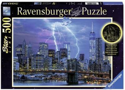 Пазл светящийся Ravensburger Молния над Нью-Йорком 500 эл